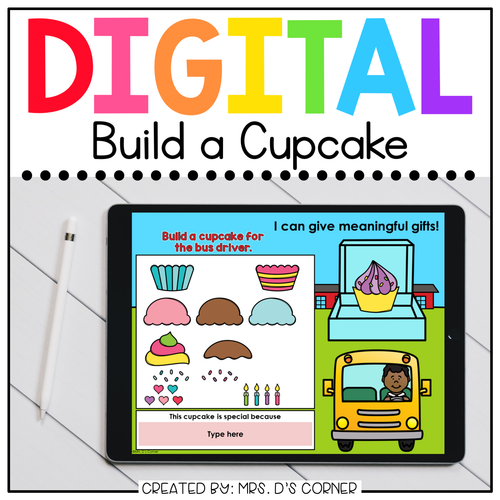 Build a Cupcake End of Year Digital Activity | Distance Learning
