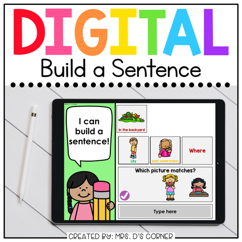 Build a Sentence End of Year Digital Activity | Distance Learning