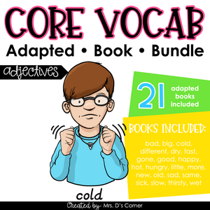 Adjectives Core Vocabulary Adapted Book Bundle [Level 1 and Level 2]