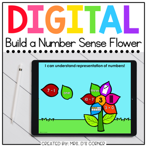 Build a Number Sense Flower Digital Activity | Distance Learning