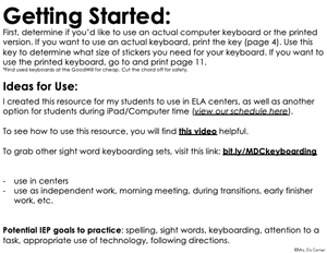 CVCe Word Keyboarding | Sight Word Activities | Typing Practice