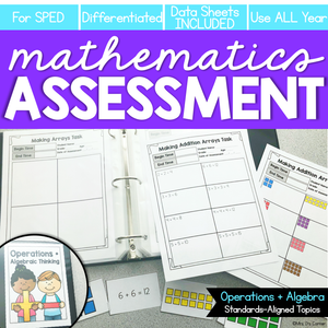 Operations and Algebraic Thinking Math Assessment K-3