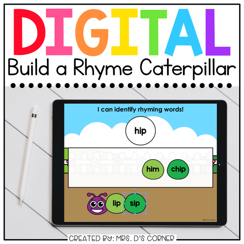 Build a Rhyme Caterpillar Digital Activity | Distance Learning