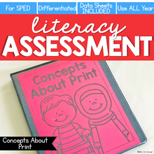 Load image into Gallery viewer, Concepts About Print Assessment - Literacy Reading Assessment for Special Ed