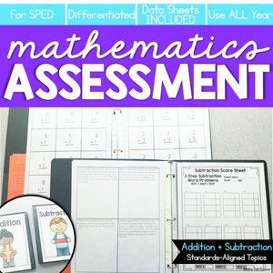 Addition and Subtraction Math Assessments