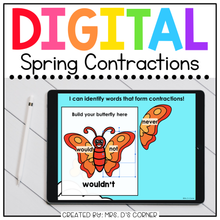 Load image into Gallery viewer, Spring Contractions Digital Activity | Distance Learning