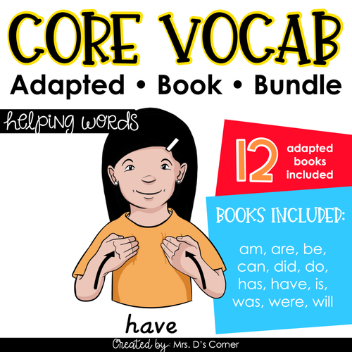 Helping Words Core Vocabulary Adapted Book Bundle [Level 1 and Level 2]