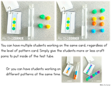 Load image into Gallery viewer, Test Tube Pattern Cards - Math Center [6 Levels of Patterns!]