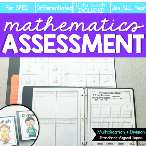 Multiplication and Division Math Assessment