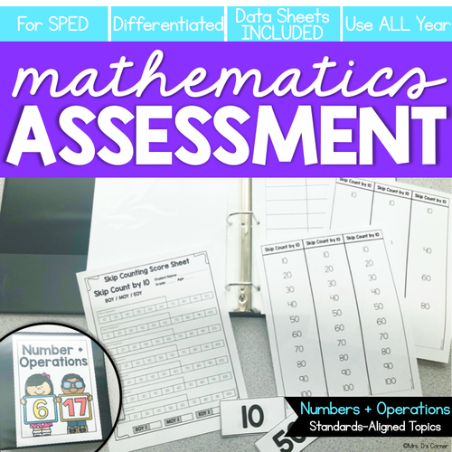 Numbers and Operations in Base 10 Math Assessments