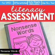 Load image into Gallery viewer, Nonsense Words Assessment - Literacy Reading Assessment