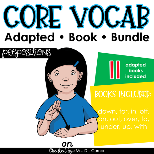 Prepositions Core Vocabulary Adapted Book Bundle [Level 1 and Level 2]