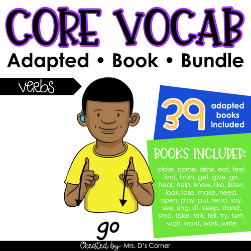 Verbs Core Vocabulary Adapted Book Bundle [Level 1 and Level 2]