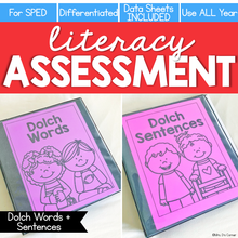Load image into Gallery viewer, Dolch Words + Sentences Assessment, Writing - Literacy Reading Assessment