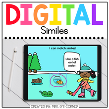Load image into Gallery viewer, Winter Similes Digital Activity | Distance Learning