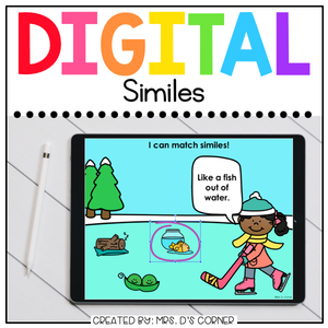 Winter Similes Digital Activity | Distance Learning