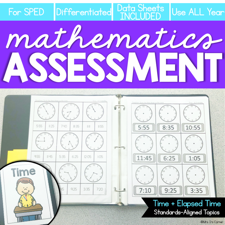 Time Assessments | Digital + Analog Time | Elapsed Time Assessments