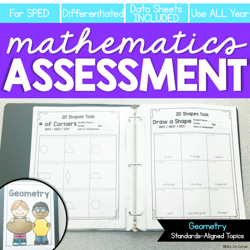 Geometry Math Assessment for K-3 | Shapes Assessment