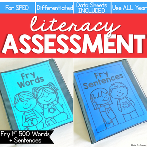 Fry First 500 Words + Sentences Assessment, Writing- Literacy Reading Assessment
