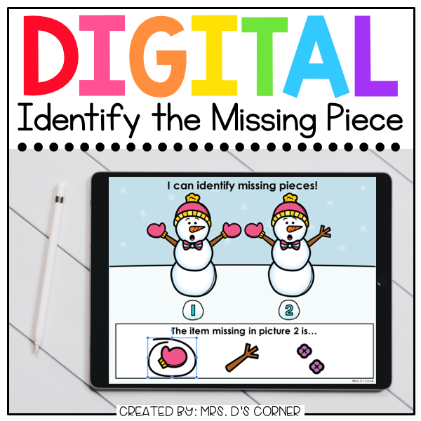 Winter What's Missing Digital Activity | Distance Learning