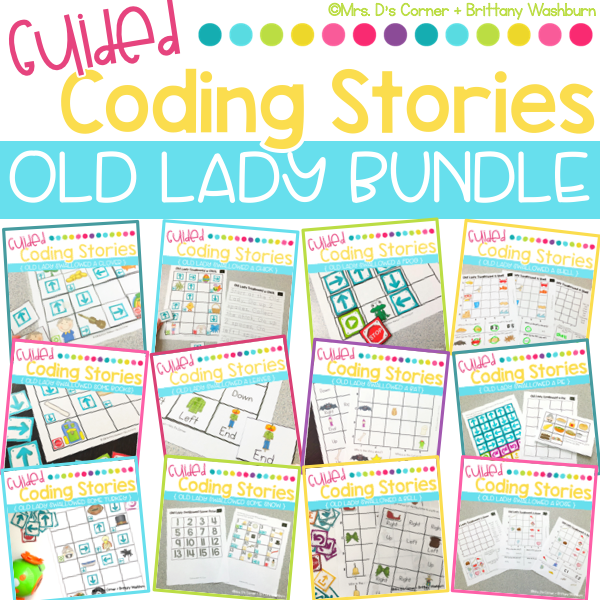 Guided Coding Stories | Old Lady BUNDLE