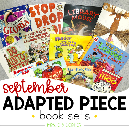 September Adapted Piece Book Set [ 12 book sets included! ]
