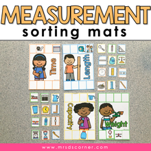 Load image into Gallery viewer, Measurement Sorting Mats [4 mats included] | Types of Measurement Activity