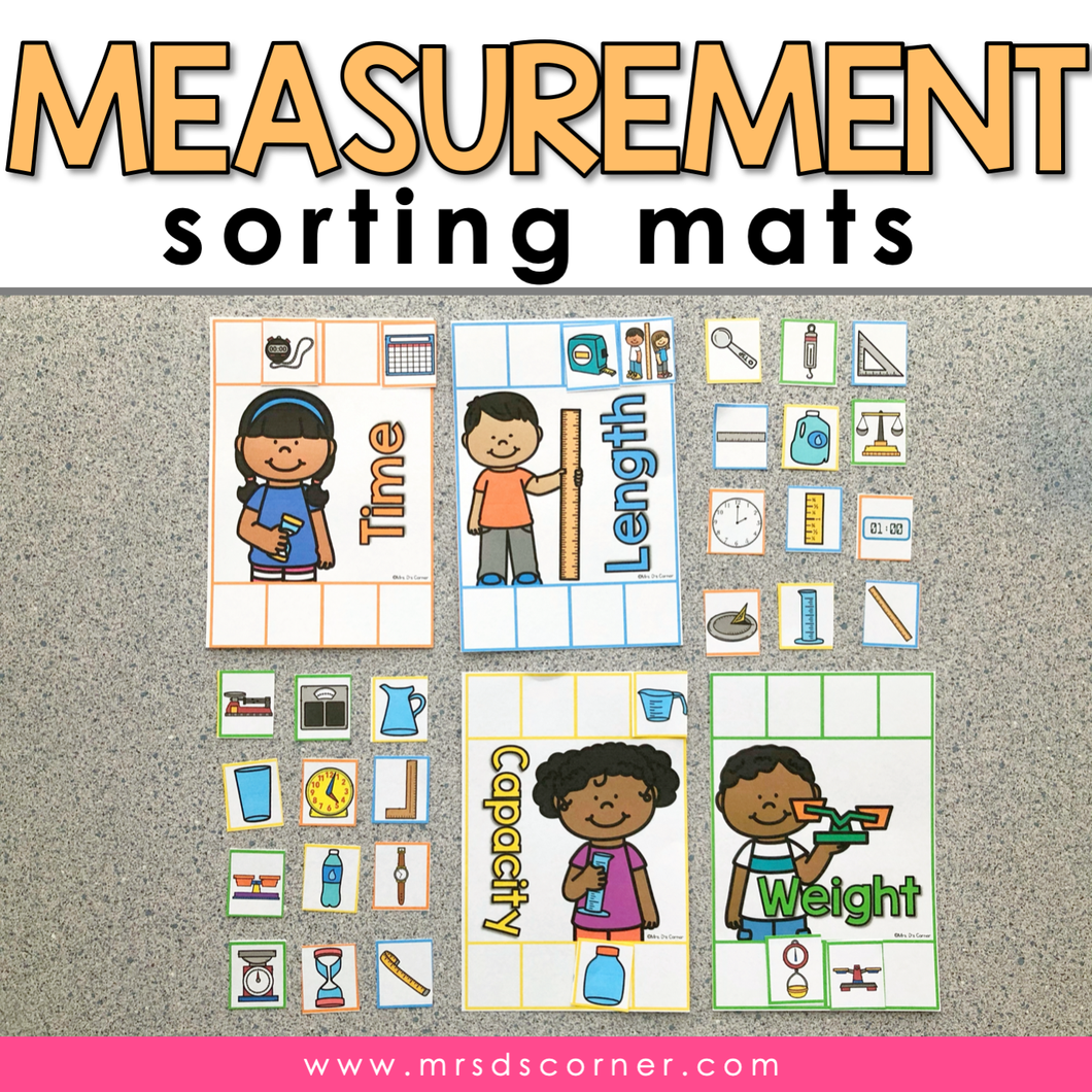 Measurement Sorting Mats [4 mats included] | Types of Measurement Activity
