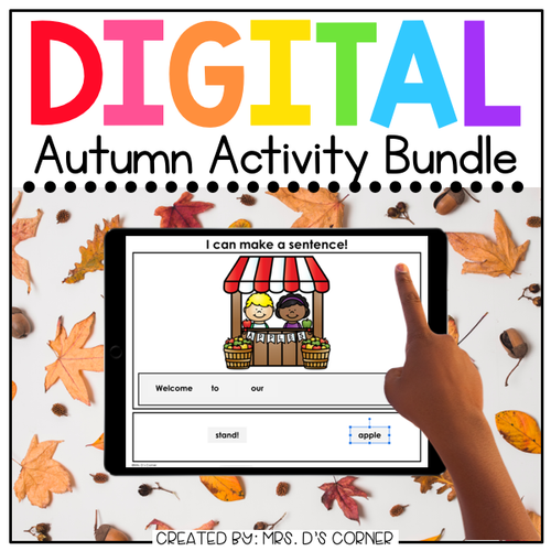 Autumn Digital Activity Bundle [12 digital activities!] | Distance Learning