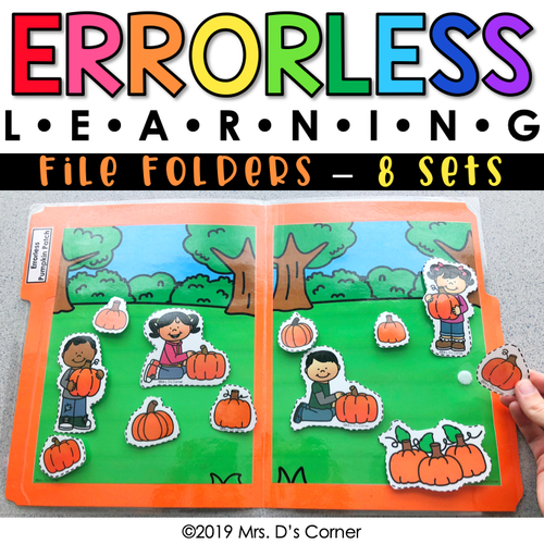 Errorless Learning File Folder Activities (104 file folders included!)