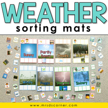 Load image into Gallery viewer, Weather Sorting Mats [8 mats included] | Weather Sorting Activity