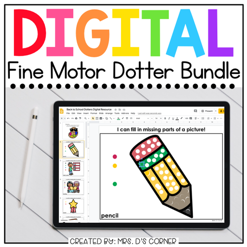Bundle of Digital Fine Motor Dotter Activities | 26 Total Themes Included!