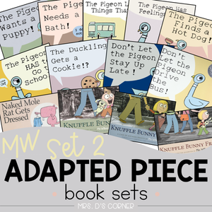 Mo Willems Set 2 Adapted Piece Book Set [13 book sets!] Pigeon + Knuffle Bunny