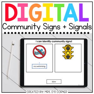 Community Signs + Signals Digital Basics for Special Ed | Distance Learning