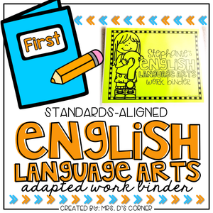 First Grade English Language Arts Adapted Work Binder® { Standards Aligned }