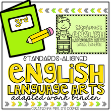 Load image into Gallery viewer, Third Grade English Language Arts Adapted Work Binder® { Standards Aligned }
