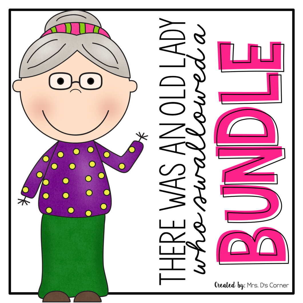 Old Lady Book Companion BUNDLE | Old Lady Swallowed Activities