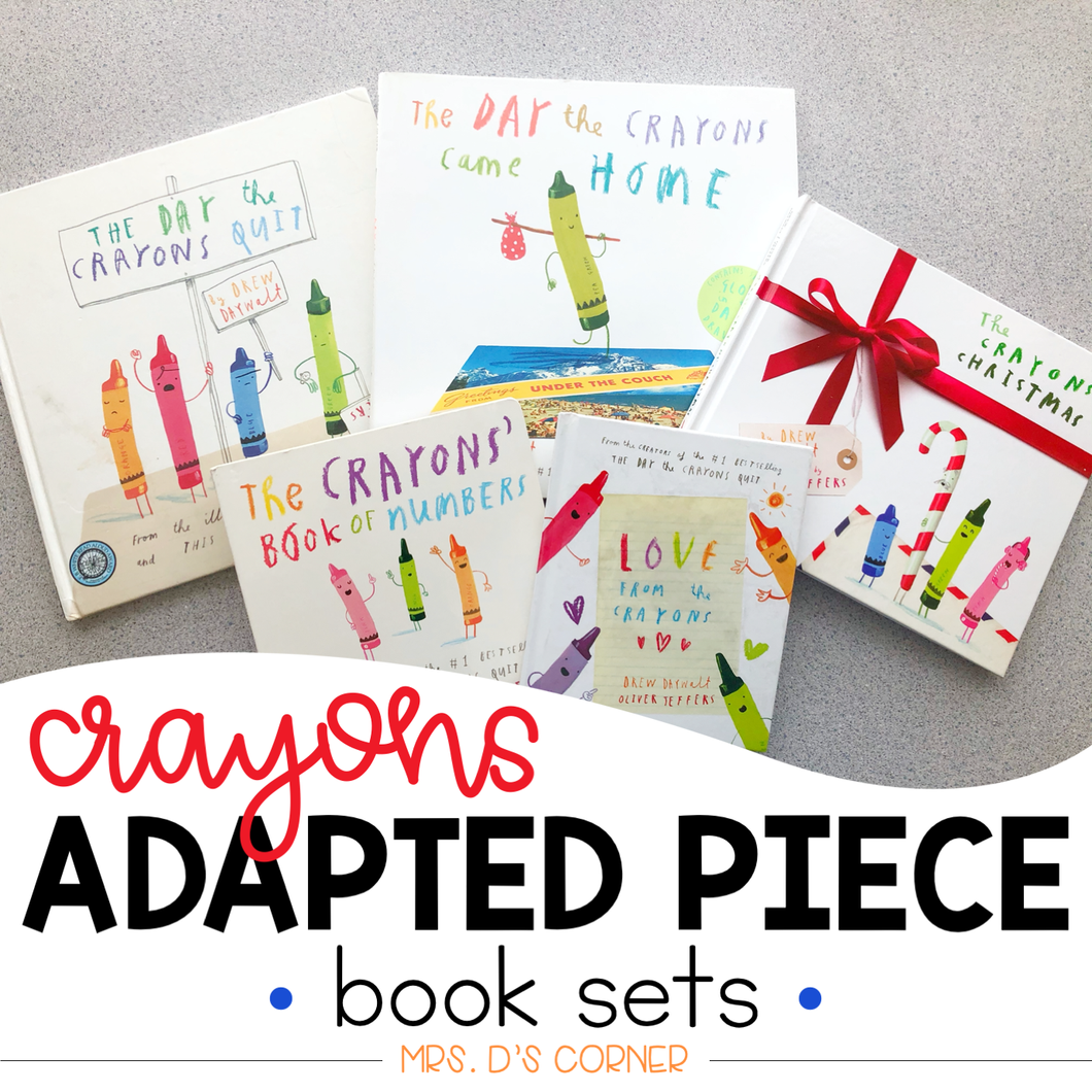 Crayons Adapted Piece Book Set [ 6 book sets included! ] Drew Daywalt