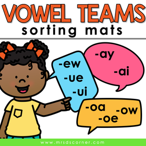 Long Vowel Sorting Mats [5 mats!] for Students with Special Needs