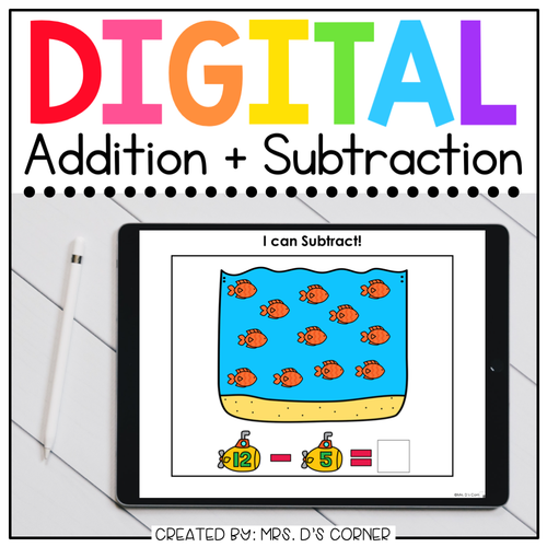 Addition + Subtraction Digital Basics for Special Ed | Distance Learning