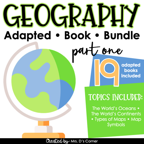 Geography Part 1 Adapted Book Bundle [Level 1 and 2] | Geography Books