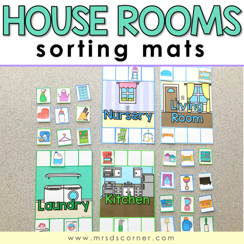 House Rooms Sorting Mats | Rooms of a House Activity