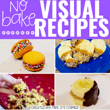 Load image into Gallery viewer, April Visual Recipes with REAL Pictures for Cooking in the Classroom
