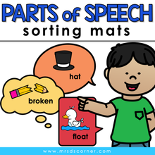 Load image into Gallery viewer, Parts of Speech Sorting Mats [3 mats!] for Students with Special Needs