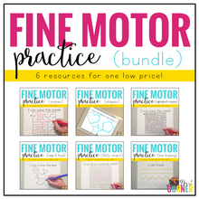 Load image into Gallery viewer, Fine Motor Skills Practice BUNDLE (6 resources included!)