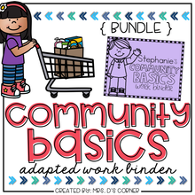 Load image into Gallery viewer, Community Basics Adapted Work Binder® { BUNDLE }