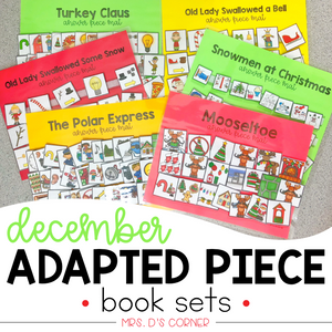 December Adapted Piece Book Sets [ 6 book sets included! ]