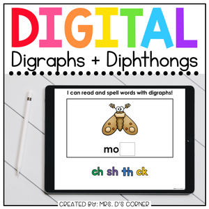 Digraphs and Diphthongs Digital Basics for Special Ed | Distance Learning