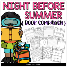 Load image into Gallery viewer, Night Before Summer Vacation Book Companion [Includes Craft + Writing Activity]