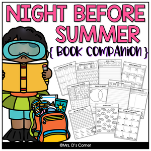 Night Before Summer Vacation Book Companion [Includes Craft + Writing Activity]